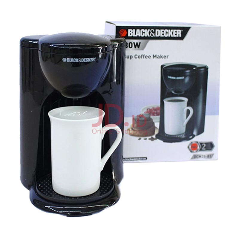 Black & Decker 1 Cup Coffee Maker Dcm 25 Review : Jual BLACK & DECKER 1 cup Coffee Maker DCM25-B1 JD.id