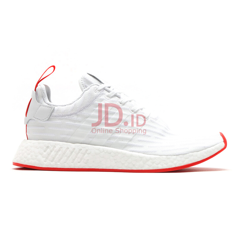 jual adidas nmd r2 pk running white core red 40 7. Black Bedroom Furniture Sets. Home Design Ideas