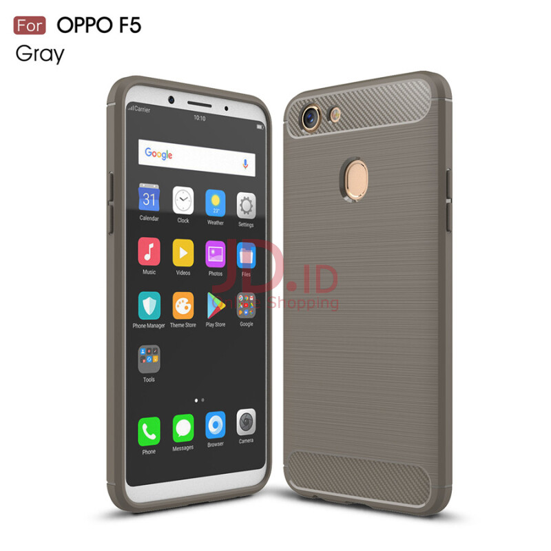 Jual Keymao OPPO F5 case Soft TPU Silicon Full Protect Cover Case-Grey Keymao official