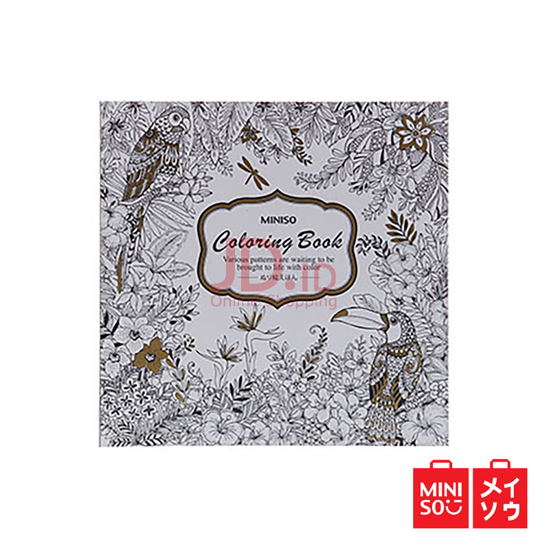 Jual Miniso Official Wonderland Forest Coloring Book CPA2603V 04A5 5618MN MINISO INDONESIA