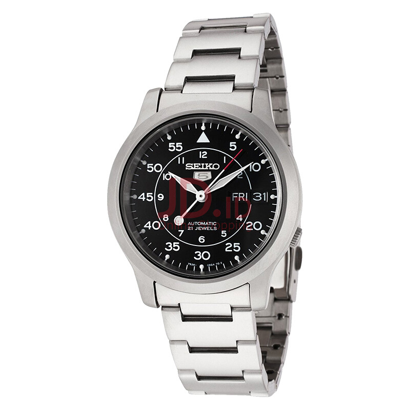 harga Seiko 5 Automatic 21 Jewels Black Military Stainless Steel Bracelet [SNK809K1] Silver Jd.id