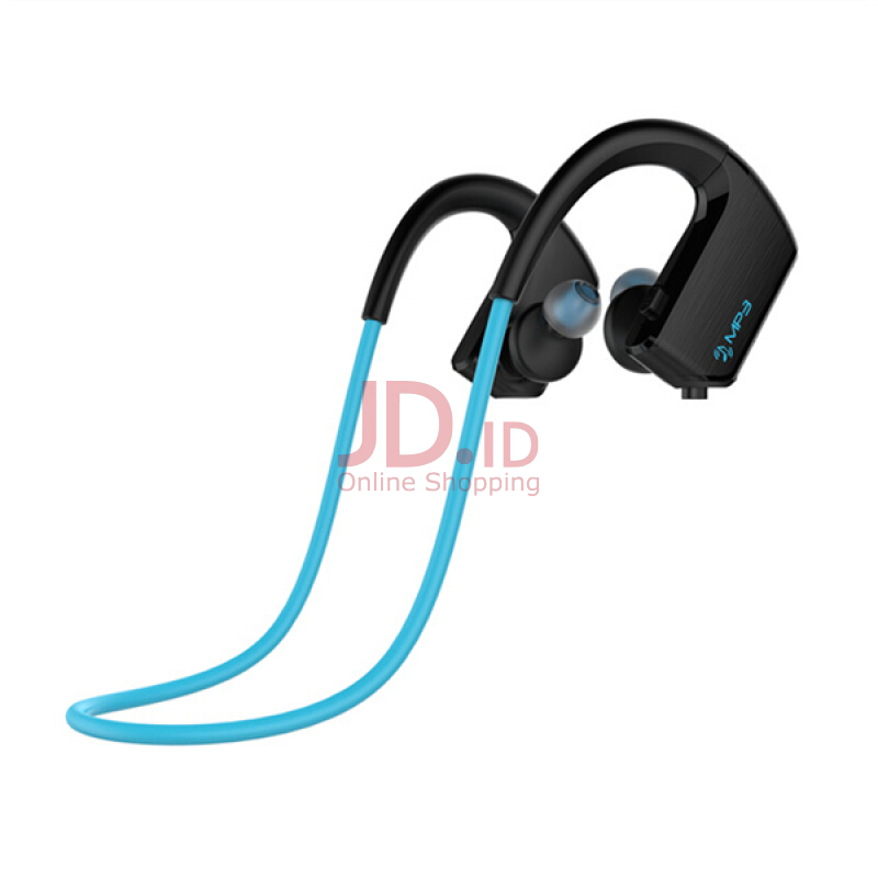 harga J2 2 in 1 Design IPX5 Waterproof HD Noise Reduciton 8GB MP3 Player Bluetooth Earphone With Mic for Iphone Samsung Xiaomi LG Blue Jd.id