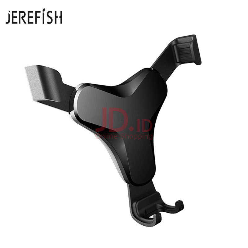 harga JEREFISH Car Phone Holder Auto Lock T Shaped Air Vent Mobile phone Holder for Car Mount Support Cradle Grip Stand Black Jd.id