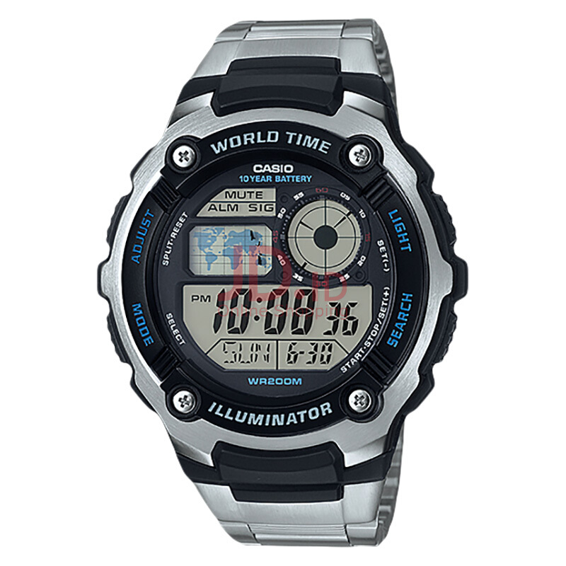 harga Casio AE-2100WD-1AVDF Water Resistant 200M Stainless Steel Band [AE-2100WD-1AVDF] Silver Jd.id