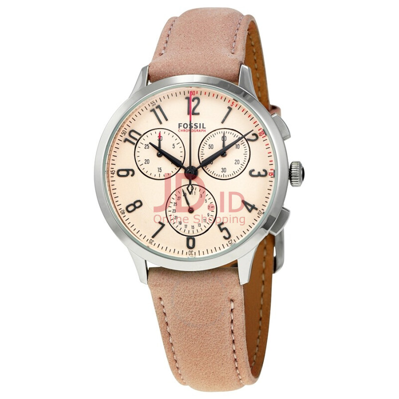 Jual FOSSIL CH3088 D38H1410CKTKN CHRONOGRAPH LEATHER STRAP LADIES COKLAT KUNING Brown ABADI JAYA SHOP