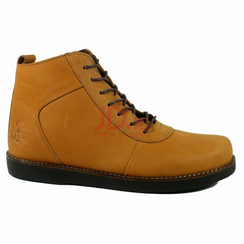 Jual Wolf Sepatu Boots Pria Kulit Golden - Tan Tan 41 cevany official store 53274f9867