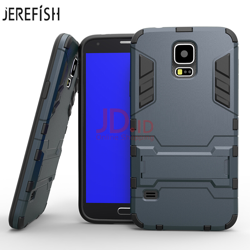 Jual JEREFISH For Case Galaxy S5 Cover Armor Hybrid Dual Hard Plastic Soft Silicone Iron Man