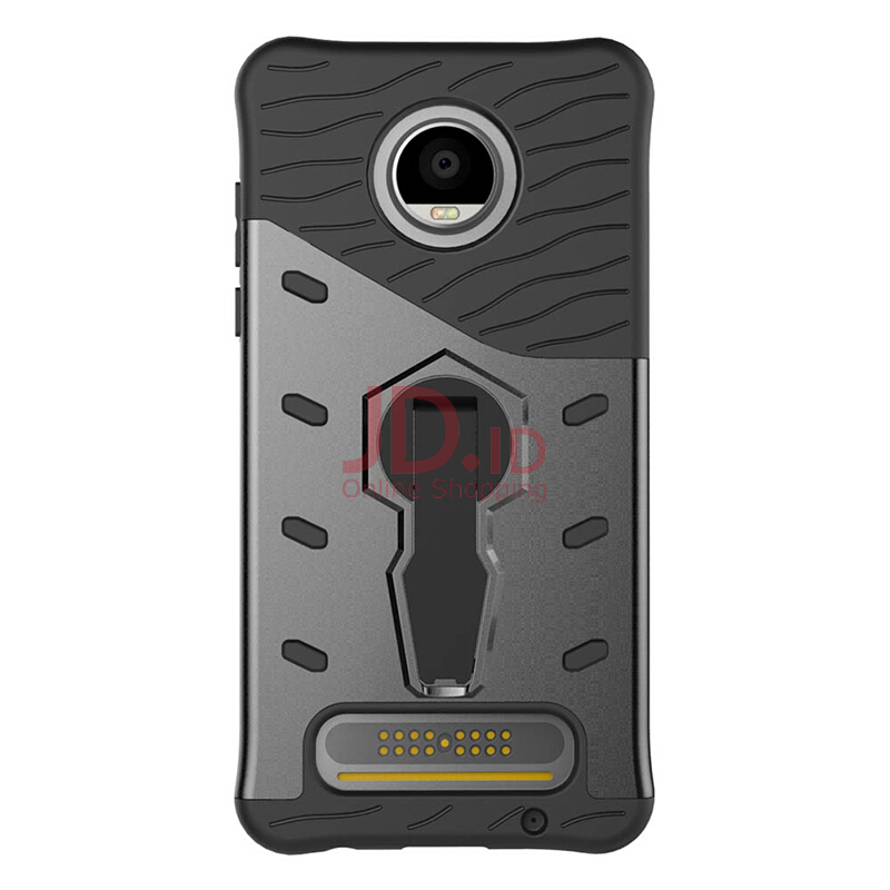 harga Smatton Case hp Moto Z2 play Case Armor Shockproof Hybrid Hard Soft Silicone 360 Degree Rotation Phone Cover shell Black Jd.id