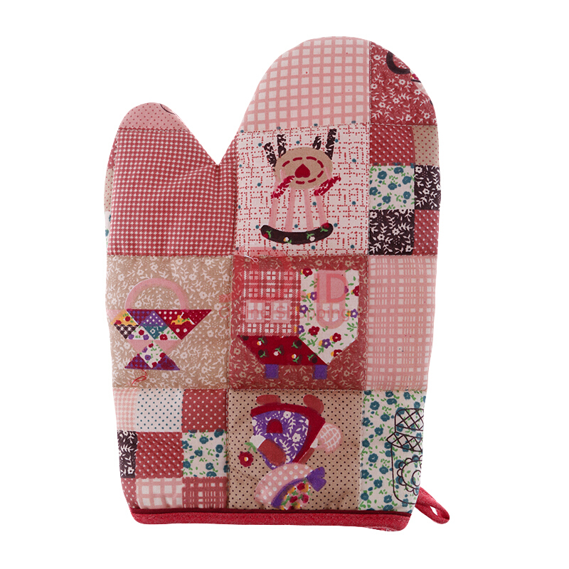 Jual ARNOLD CARDEN Oven Mitts Girl and House Right Side - Orange Bata 17x25cm JD.id
