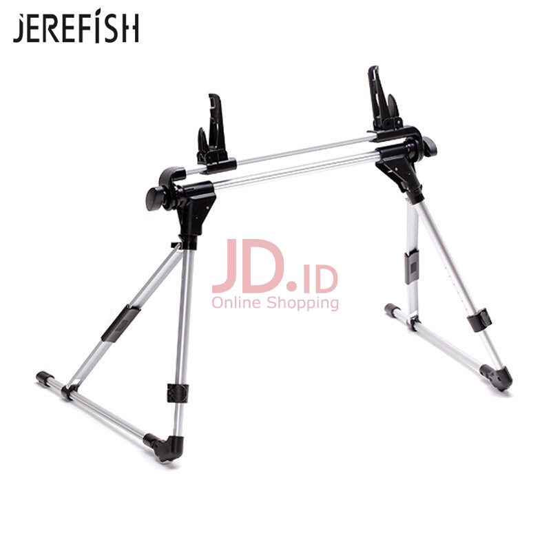 harga JEREFISH Auto Lock Tablet Mount Holder Floor Desktop Stand Lazy Bed Tablet Holder Mount Bracket for iPad air 2 4 5 mini Nexus 7 Silver Jd.id