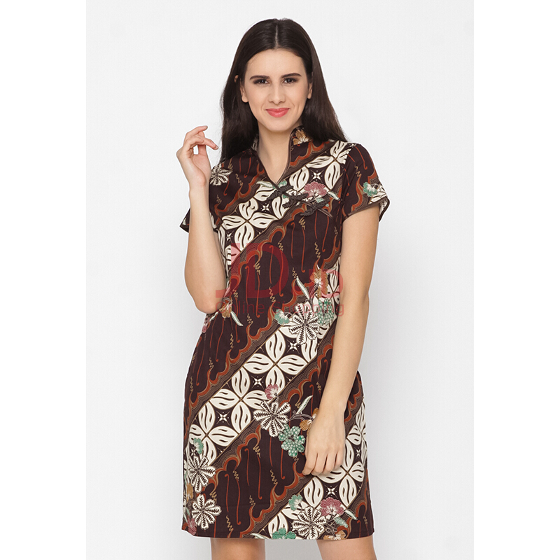 harga FBW Shanghai Cheongsam Batik Dress Brown M Jd.id