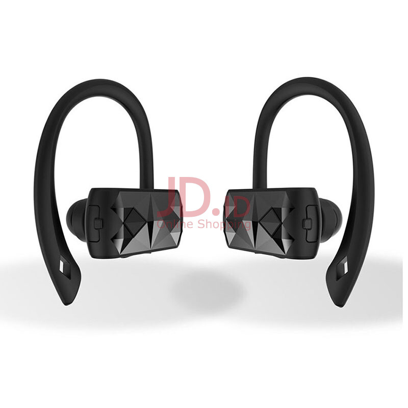 harga T-max A18 TWS Bluetooth Earphones hook wireless sports headsets HD calls Voice Control for iPhone/Android black Jd.id