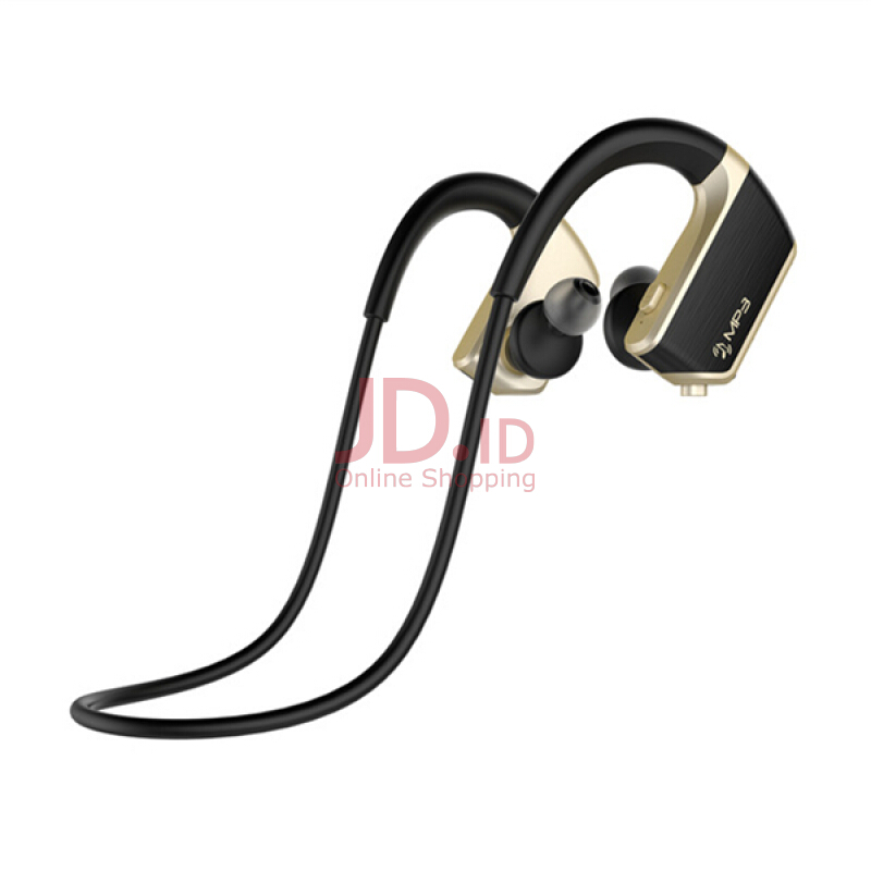 harga J2 2 in 1 Design IPX5 Waterproof HD Noise Reduciton 8GB MP3 Player Bluetooth Earphone With Mic for Iphone Samsung Xiaomi LG Gold Jd.id