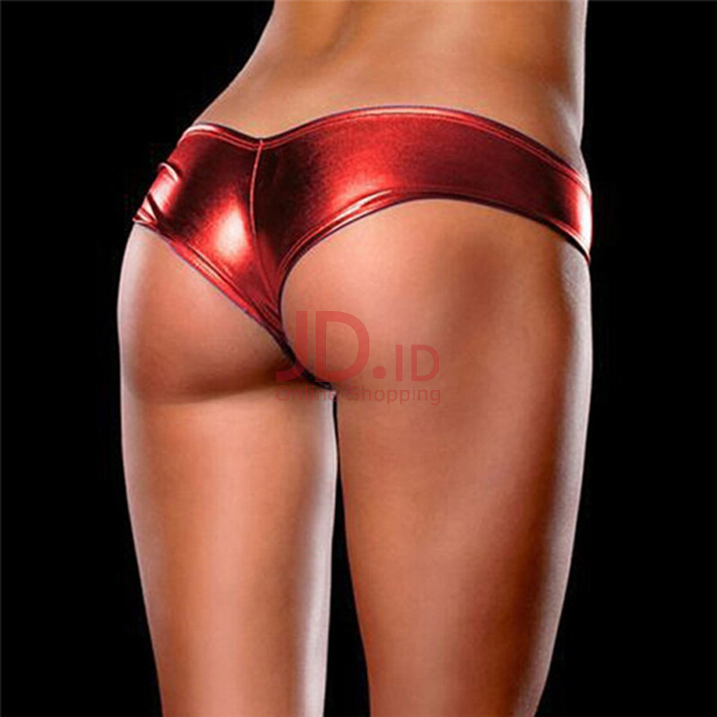 Jual SESIBI Shiny G Strings Charms briefs Women Underpants Charms Lingerie  Faux Leather Panties -One Size - Randomly Color -1pc lot Colorful Fashion 2214f747df