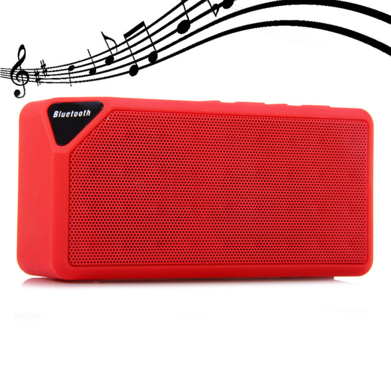 harga X3 Wireless Mini Bluetooth V2.1 Speaker Portable Speaker for Mobile-phone and TF Card  Red Jd.id