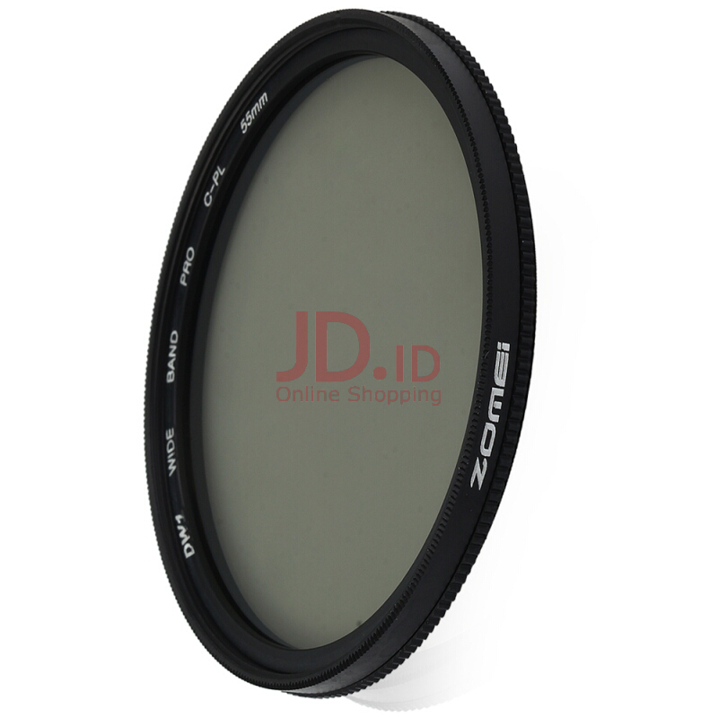 harga Zomei 55mm Ultra Thin CPL Circular Polarizer Glass Filter Lens  - Black Jd.id