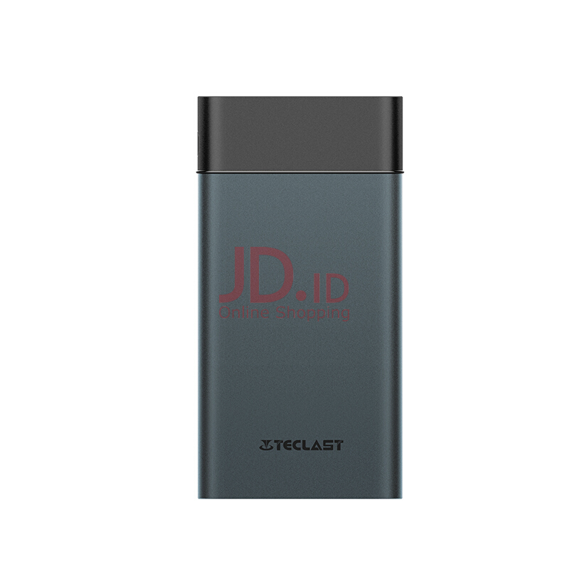 harga Teclast T100UC Portable Power Bank 10000mAh, Portable Battery Charger with Double USB and 2.1A Output Grey Jd.id