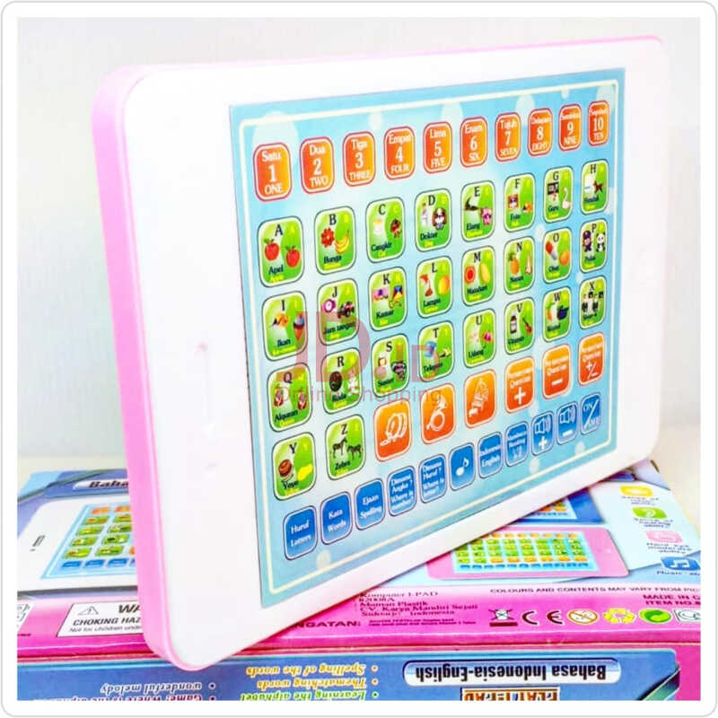 Jual cute baby playpad ipad mini 2 bahasa mainan edukasi anak - pink Cute Baby Kids
