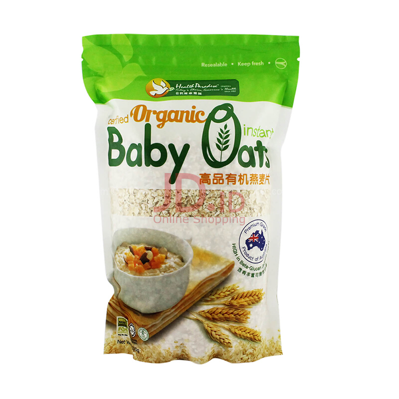 Jual Health Paradise Organic Instant Baby Oat / Sereal Baby Oat 500 Gr House Of Organix