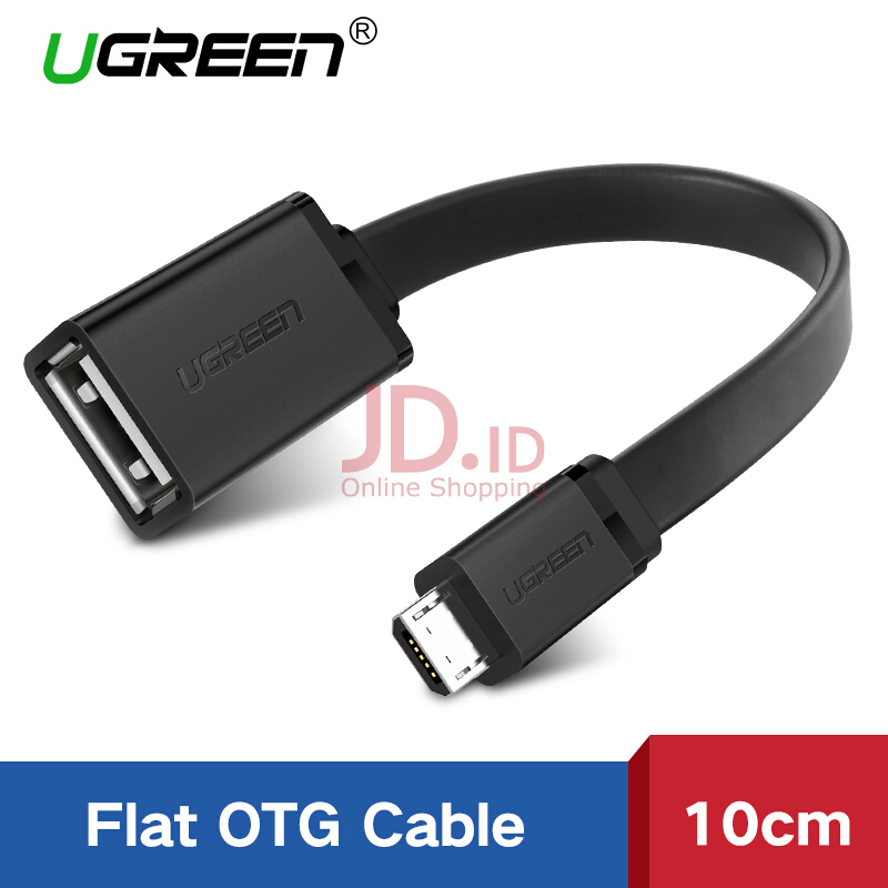 harga UGREEN Micro USB 2.0 OTG Cable On The Go Adapter Male Micro USB to Female USB for Samsung S7 S6 Edge S4 S3, LG G4, Dji Spark Mavic Remote Controller, Android Windows Smartphone Tablets Black Jd.id
