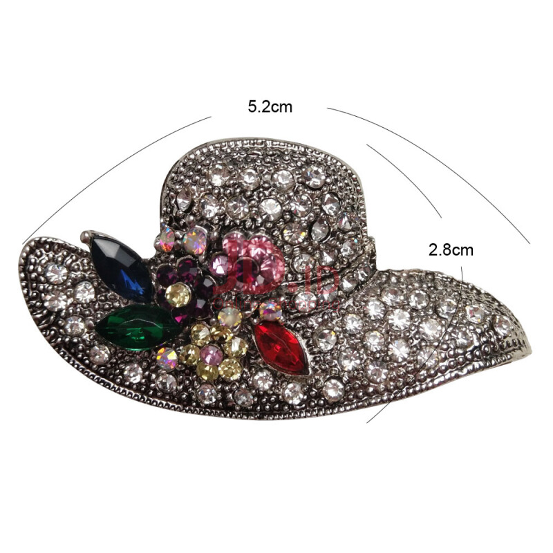 Jual Jantens Vintage Flower Pins Dress Coat Charms Wedding Party Flower  Jewelry 2018 Grey Jantens Store