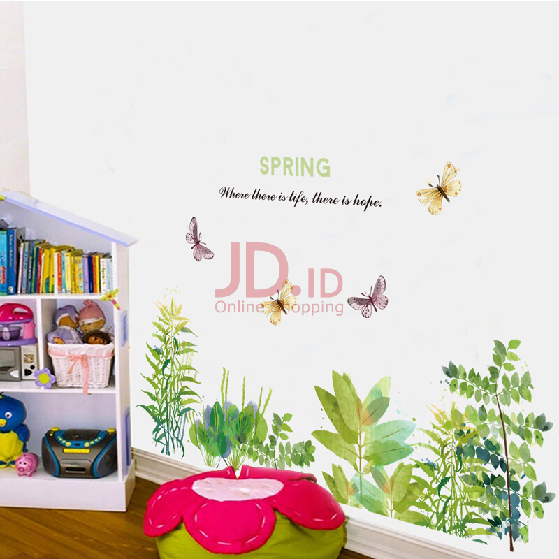 harga DIY Butterfly Flower Garden Wall Sticker Living Room Kitchen Home Decor Wall Decal Mural Multicolor L Jd.id